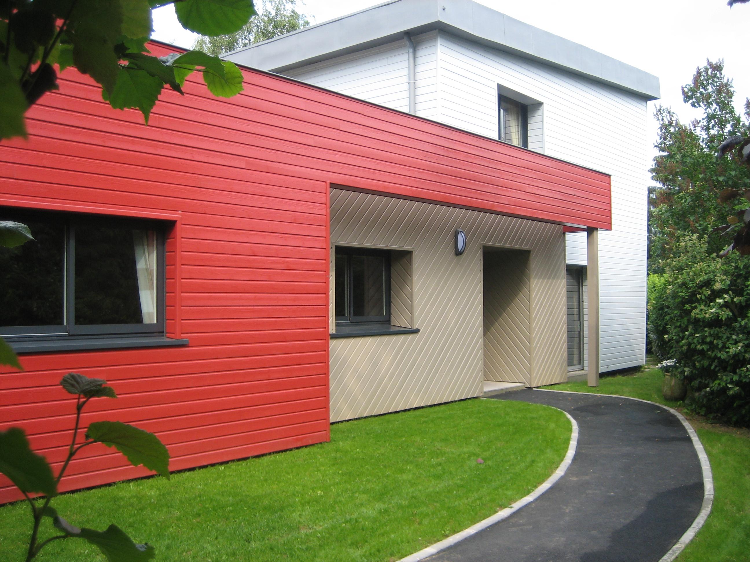 Rénovation extérieure  et extension d'une maison individuelle à Mont-Saint-Aignan